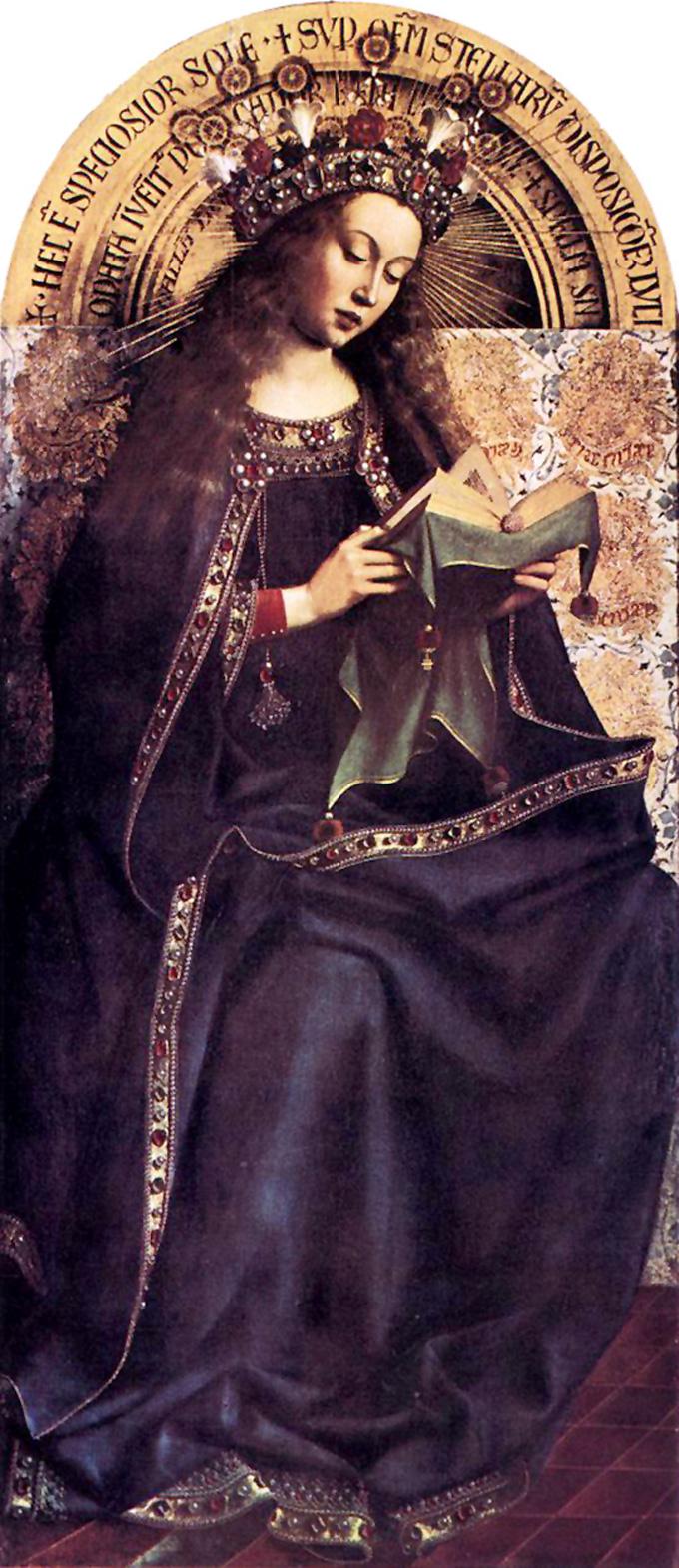 O Retábulo de Ghent: Virgin Mary, 1432