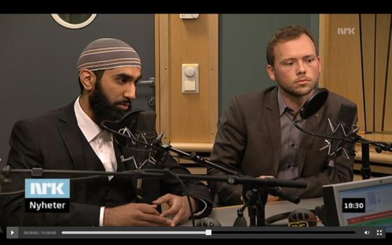 Audun Lysbakken møtte Islam Nets Fahad Qureishi i Dagsnytt Atten torsdag 10 januar 2013