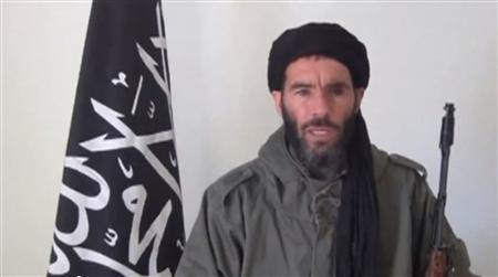 Mokhtar Belmokhtar is pictured in a screen capture from an undated video distributed by the Belmokhtar Brigade