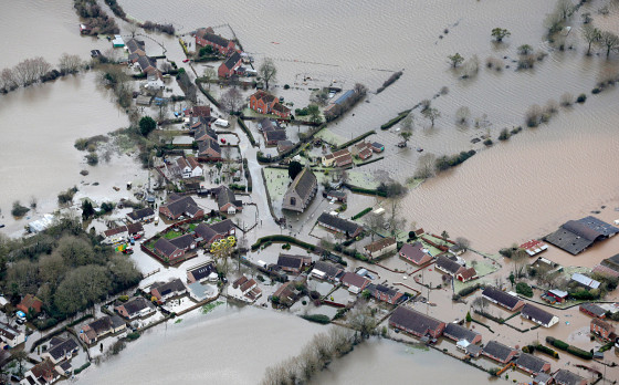 ***BESTPIX***  Aerial Views Show The Extent Of The Flooding On The Somerset Levels