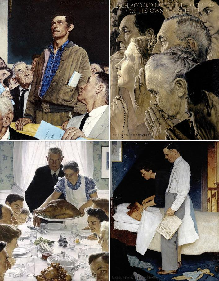 what are the four freedoms by norman rockwell