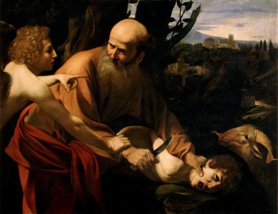 Caravaggio.Sacrifice_of_Isaac-Caravaggio_(Uffizi)