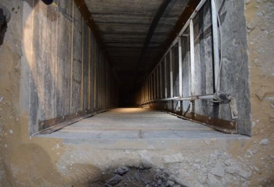 Tunnellåpning oppdaget av IDF i Gaza, 20. juli 2014 (Foto: IDF)