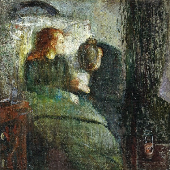 Edvard Munch - the sick child (1885 - 86)