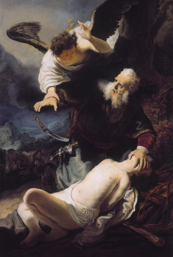 The sacrifice of Abraham, by studio of Rembrandt