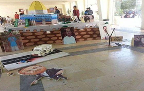 Pelestinske studenters utstilling hyller mordforsøket på Yehuda Glick