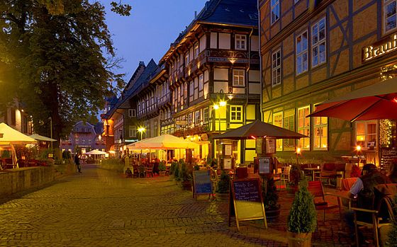Restaurants at the Kirchhof, Goslar, Germany