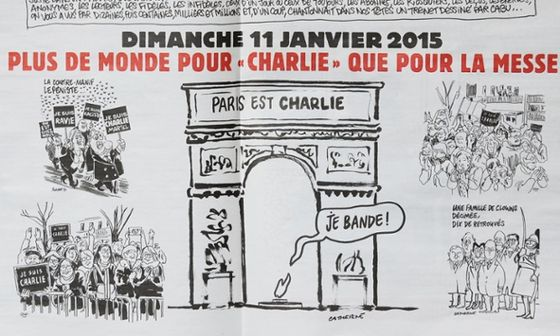 Pages inside Charlie Hebdo