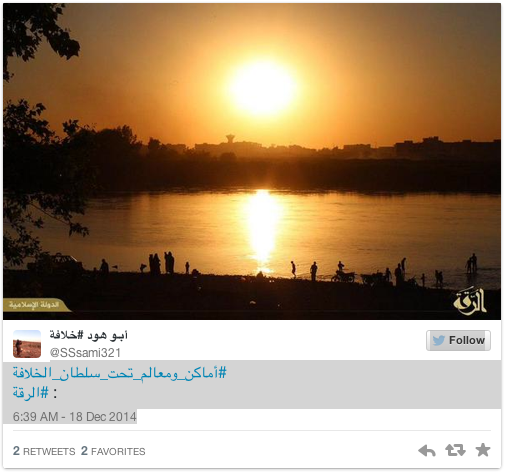 Sunrise in Raqqa