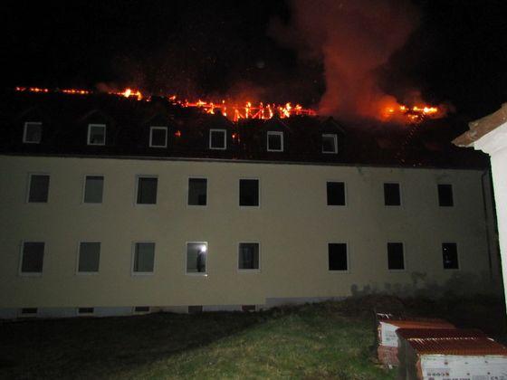 Tröglitz/ Feuer in Flüchtlingsunterkunft