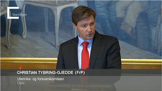 Christian Tybring-Gjedde - Stortingets asyldebatt 19. juni 2015