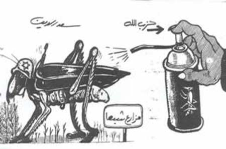 Arabisk karikatur - jødisk kakkerlakk