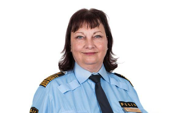 Annika Stenberg i uniform Regionpolischef region Syd