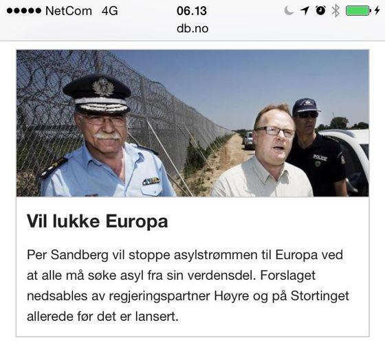 Sandberg vil lukke Europa