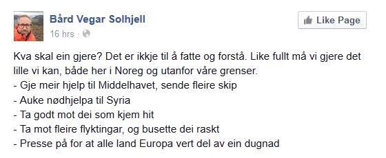 bård-vegar-solhjell-facebook