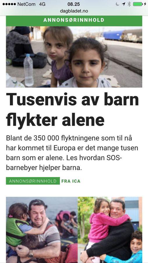 tusenvis av barn flykter alene