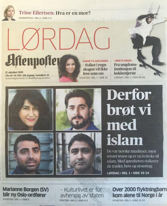 Aftenposten 17. oktober 2015, Derfør brøt vi med islam