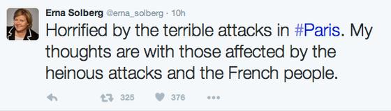Solberg maner til ro etter terror 13:7-terror
