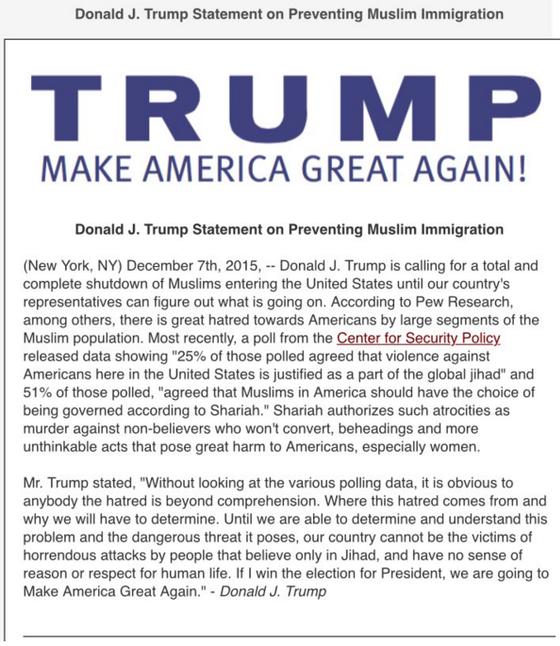Trump statement