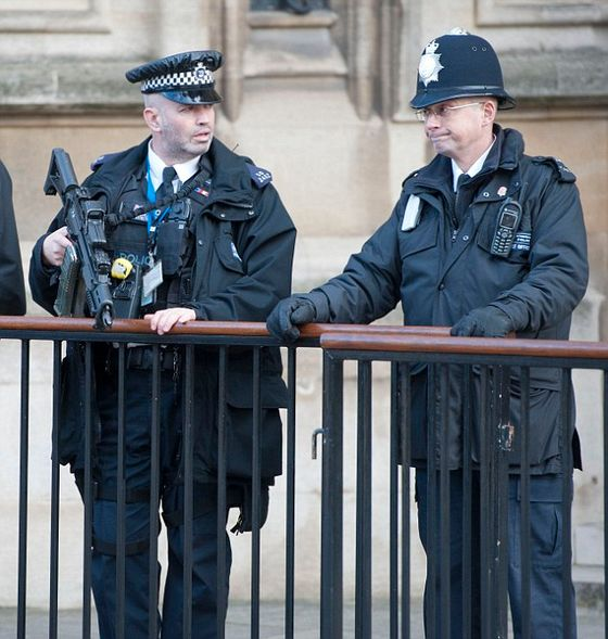 Security today at Westminster Picture by GLENN COPUS©