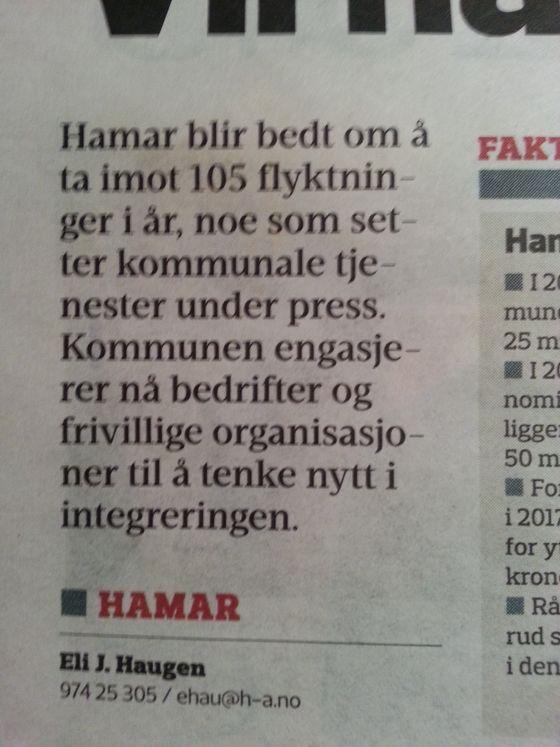 Hamar Arbeiderblad 22. januar