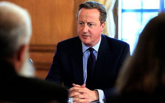 "File photo dated 13/10/15 of Prime Minister David Cameron chairing the first meeting of his new Community Engagement Forum, as he has pledged £5 million of funding for groups trying to root out the ""poison"" of extremist ideology in British communities. PRESS ASSOCIATION Photo. Issue date: Sunday October 18, 2015. The Prime Minister said the money for local campaigns and charities this year would help prevent the ""seed of hatred being planted in people's minds"". See PA story POLITICS Extremism. Photo credit should read: Jonathan Brady/PA Wire"