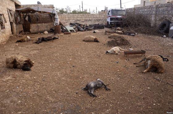 Khan al-Assal area near the northern city of Aleppo, Mar. 23, 2013.