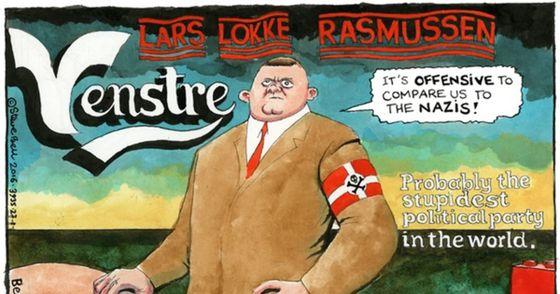 lars.løkke.rasmussen.nazi.cartoon