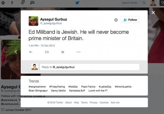 Aysegul Gurbuz Luton Counciler mos web grabs
