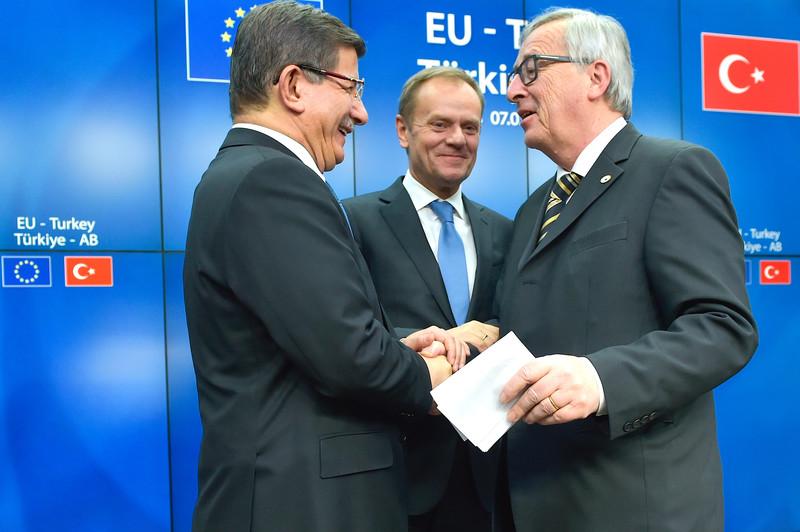 Jean-Claude Juncker, Donald Tusk, Ahmet Davutoglu