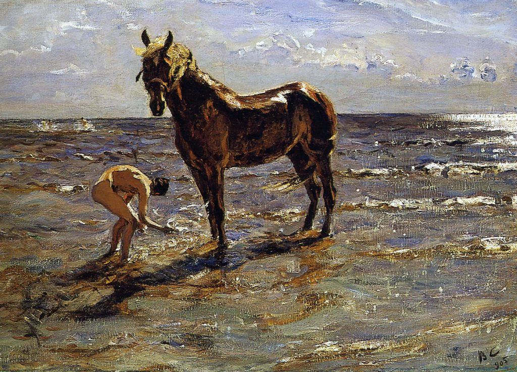 Валентин_А._Серов_-_Купание_лошади