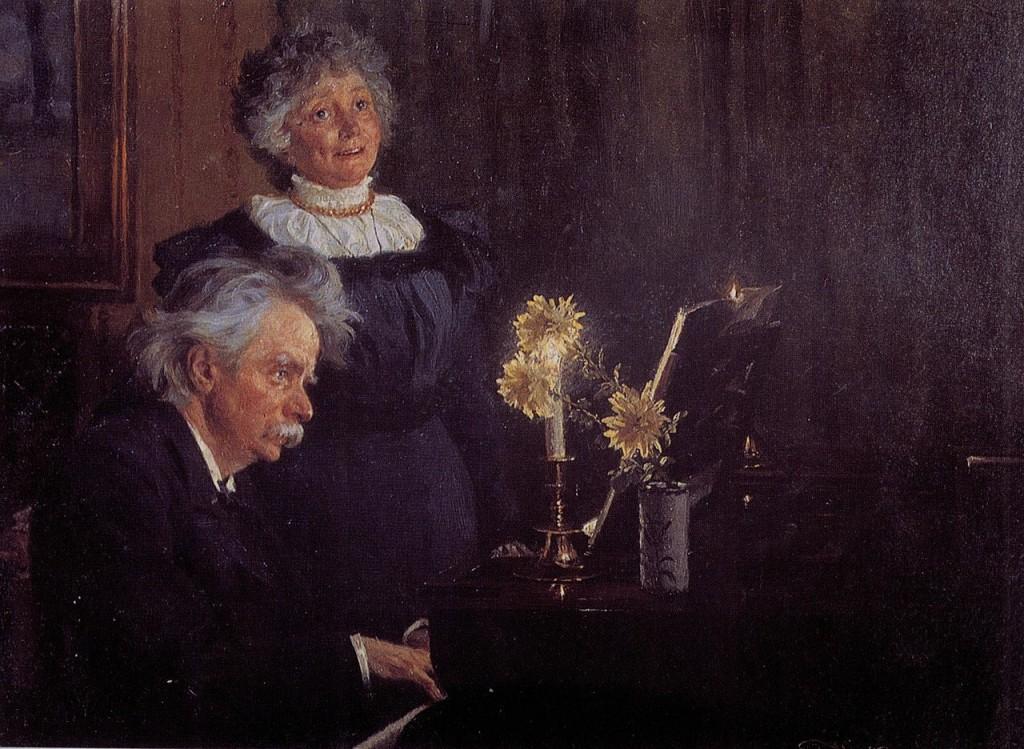 Edvard_Grieg_accompanying_his_Wife