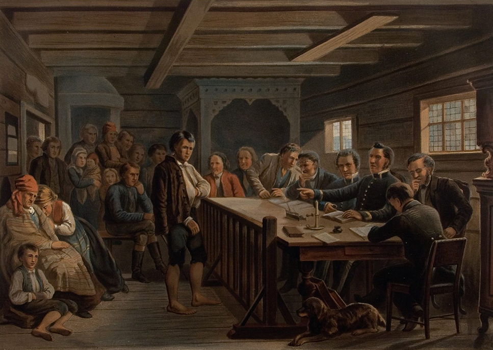 en-retsscene-paa-landet-adolph-tidemand-1858