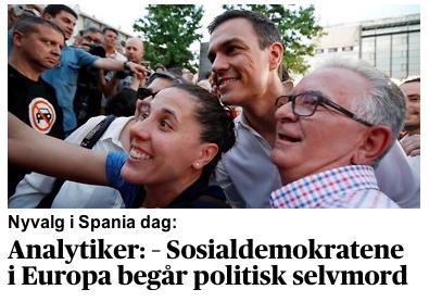 Blinde politikere & presse - aftenposten.no:verden:Valg-i-Spania-i-dag--Sosialdemokratene-i-Europa-begar-politisk-selvmord-337032b.html