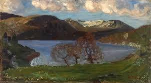 astrup.vårkveld.ved.jøstravatnet.1900