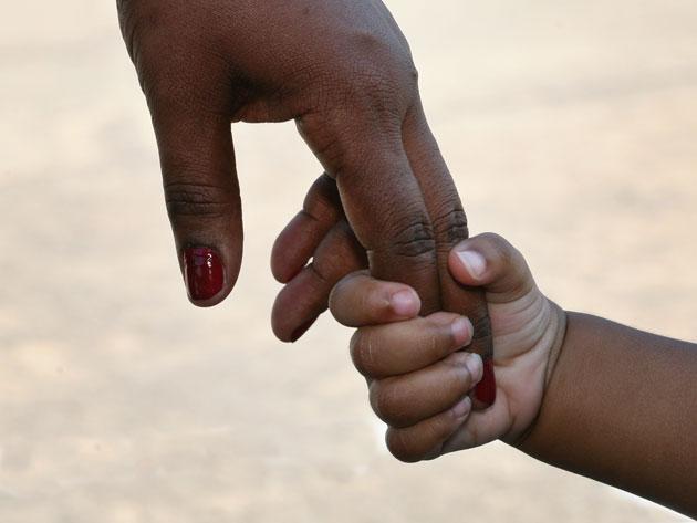brun hånd