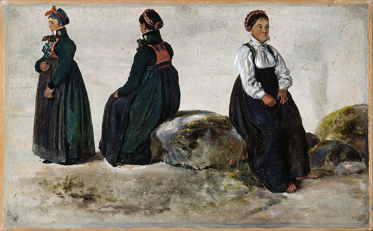 Johan_Christian_Dahl_-_Studies_of_Female_Costumes_from_Luster_in_Sogn_-_Google_Art_Project