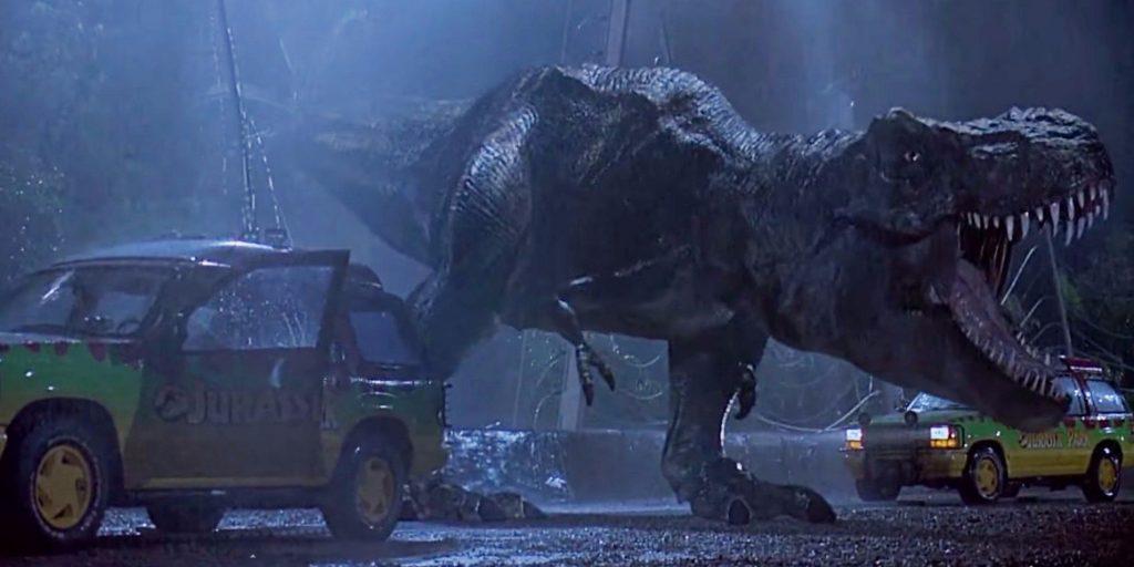 jurassic park t rex first