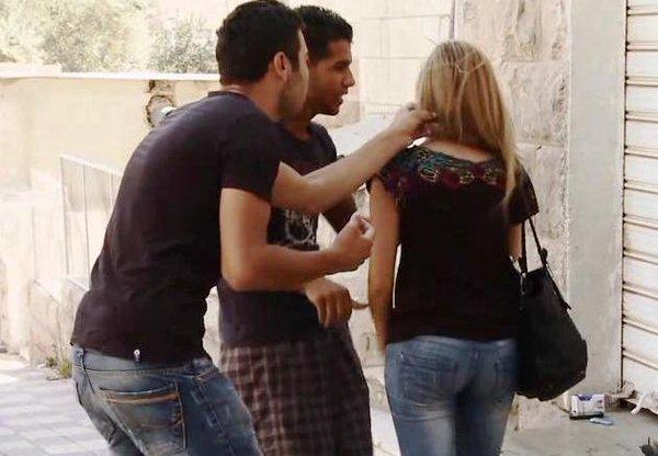 men-harassing-woman