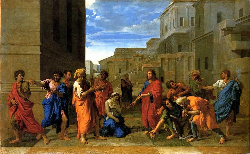 nicolas-poussin-jesus-og-kvinnen-som-ble-grepet-i-hor