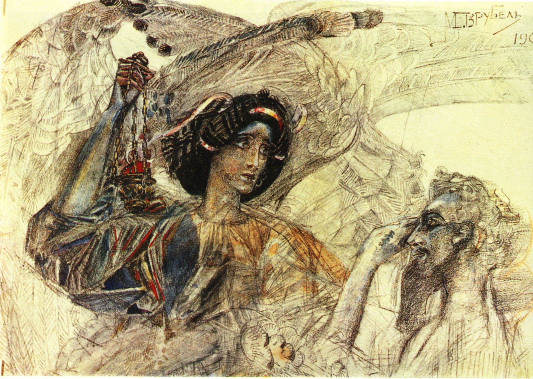 the-six-winged-seraph-Study-1905