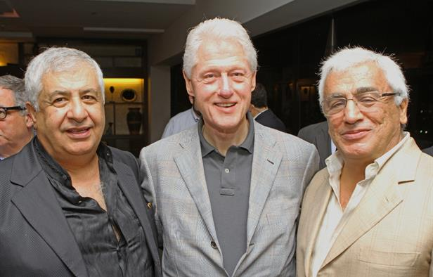 Gilbert-and-Roland-Chagoury-with-former-US-President-Bill-Clinton