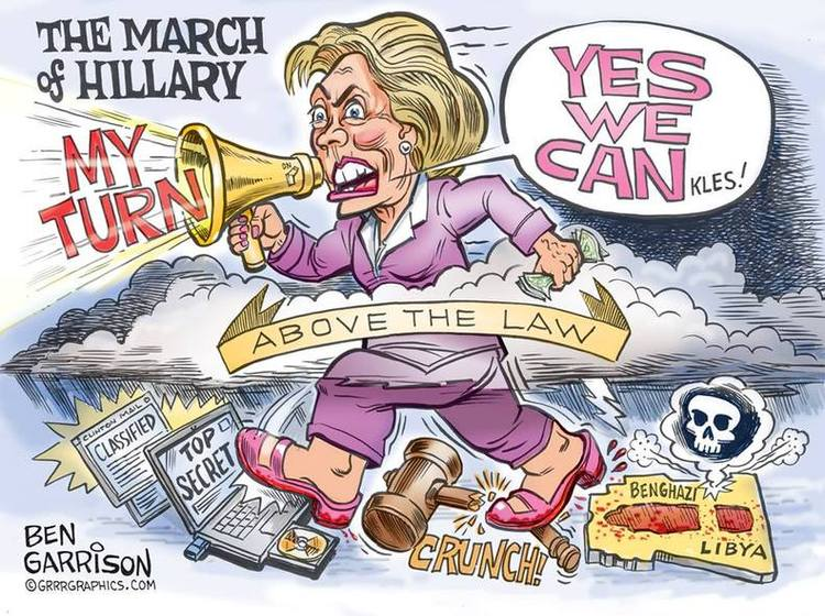 cartoon-hillarys-corrupt-political-march
