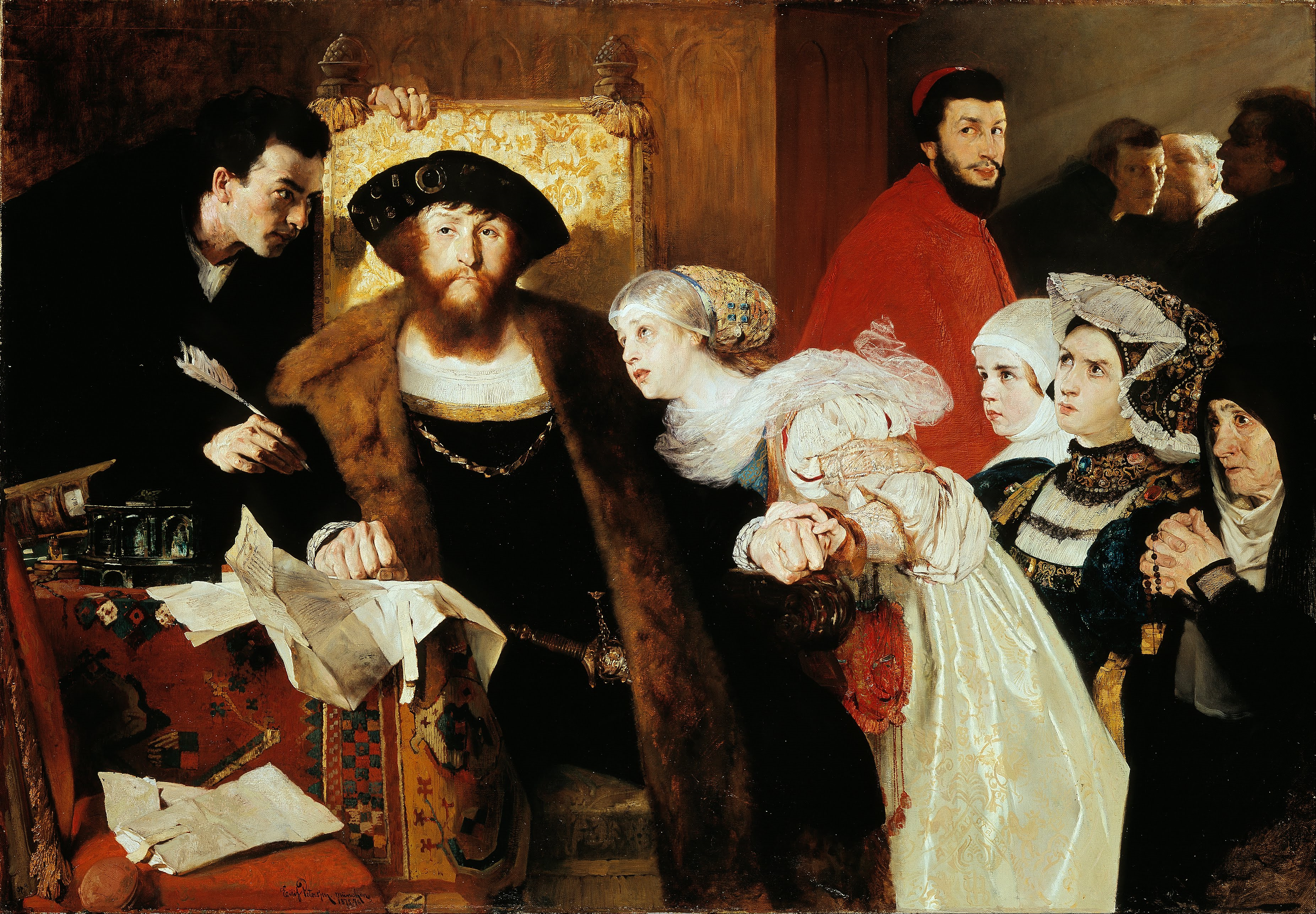 Eilif_Peterssen_-_Christian_II_signing_the_Death_Warrant_of_Torben_Oxe_-_Google_Art_Project