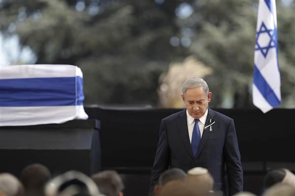 netanyahu-peres-funeral