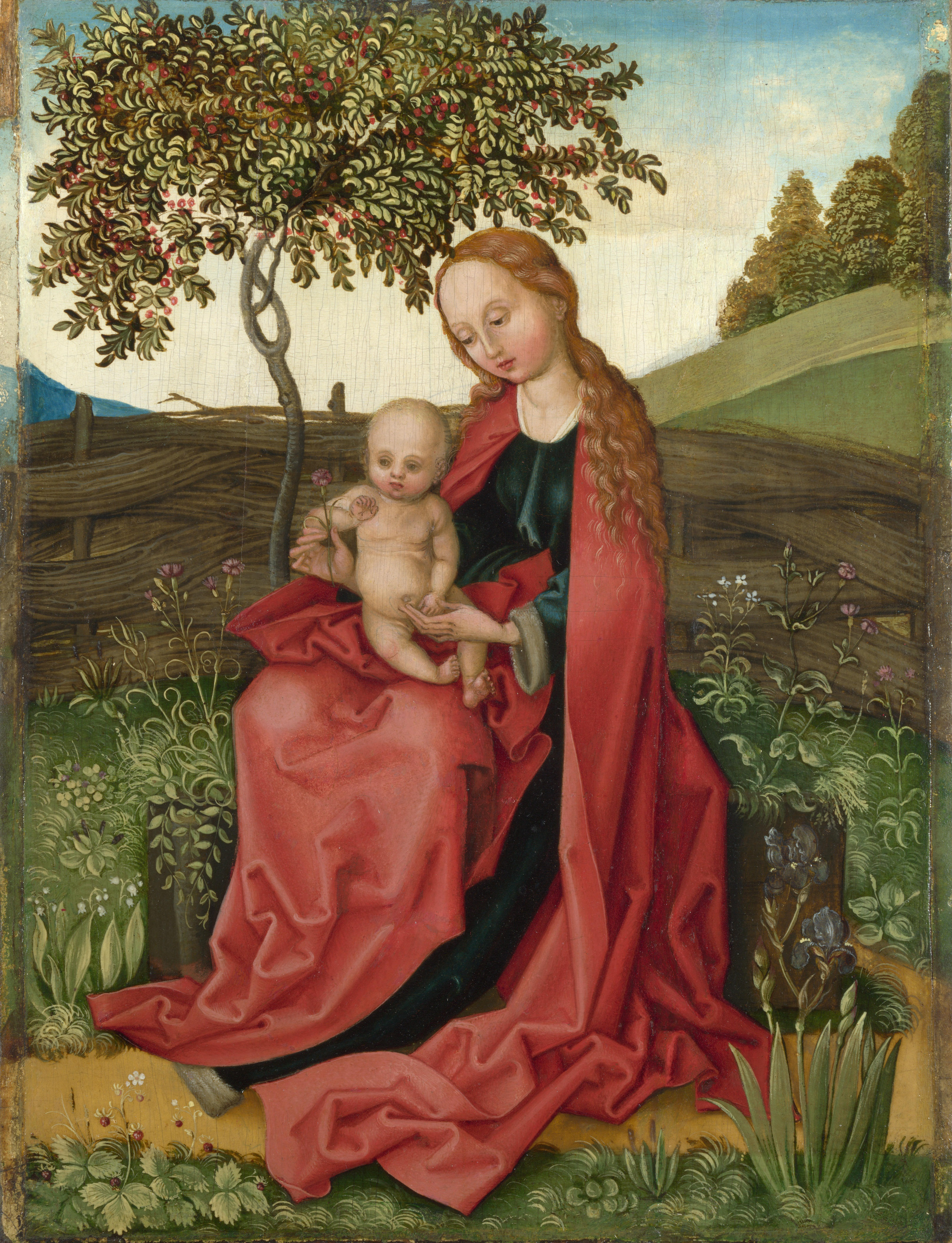 martin_schongauer_-_madonna_und_kind_in_einem_garten_national_gallery_london