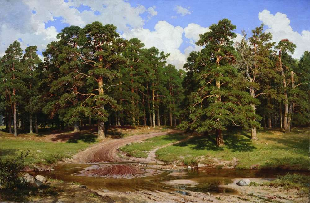 pine_forest_by_ivan_shishkin_1895