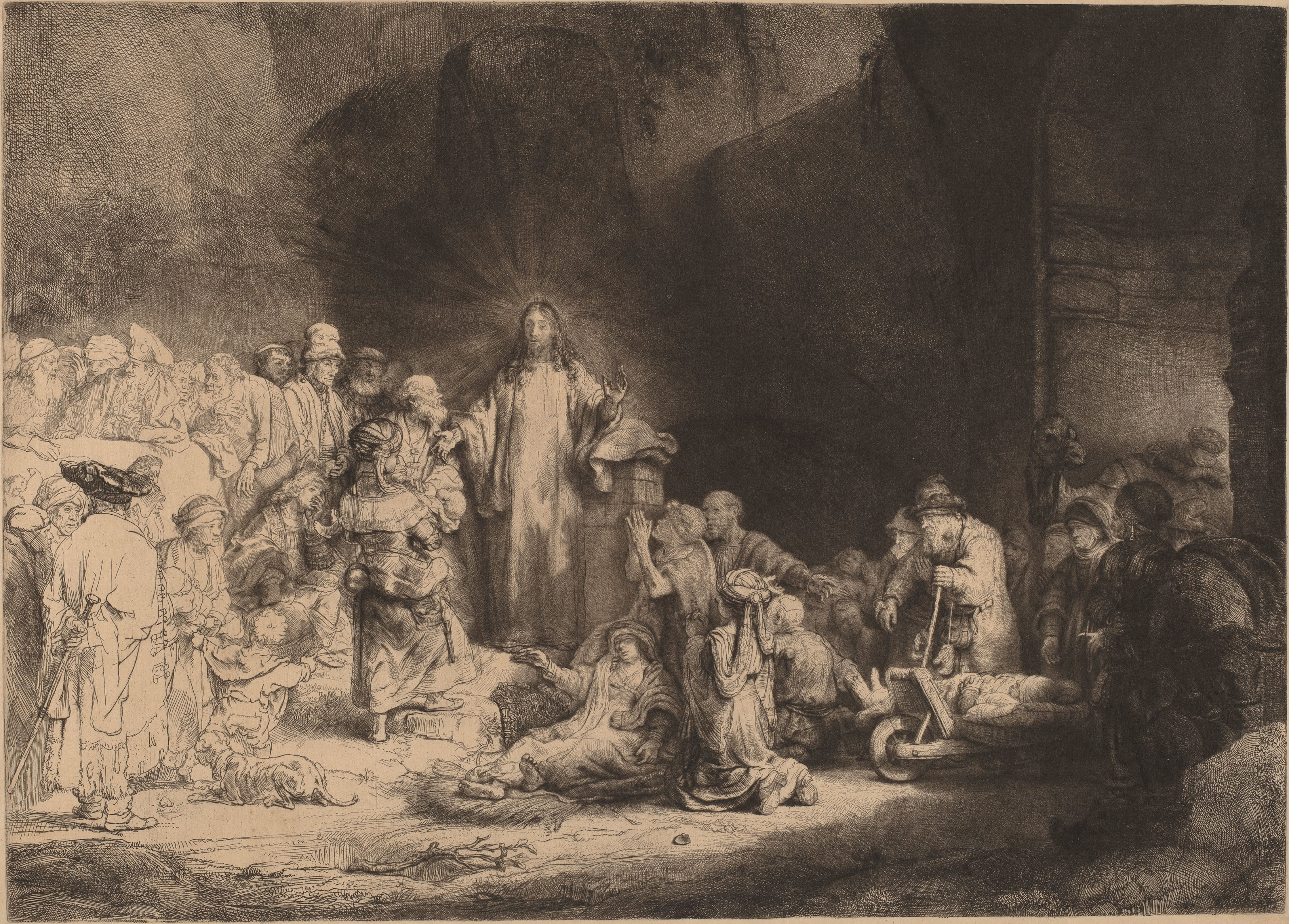 rembrandt_van_rijn_-_christ_preaching_the_hundred_guilder_print_-_google_art_project