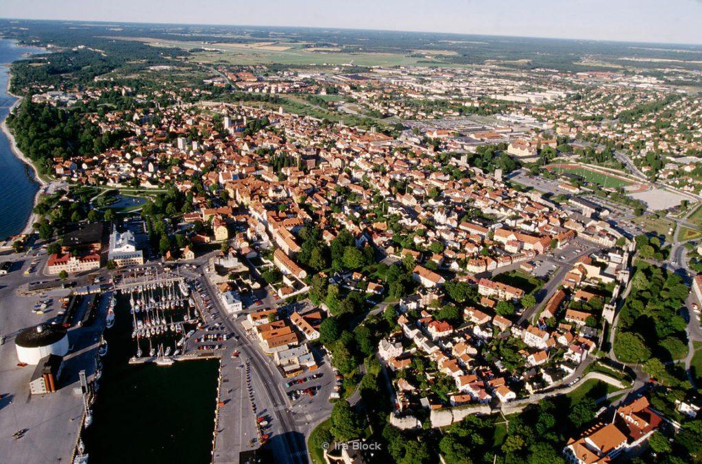 Aerials of Visby, Gotland, Sweden