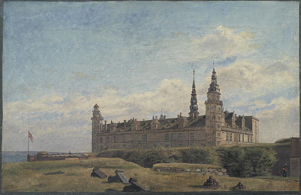 Constantin Hansen (1804-1880), Slottet Kronborg, 1834